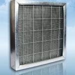 ФВП-мет: фильтр воздушный панельный грубой очистки с фильтровальным материалом из стальной сетки